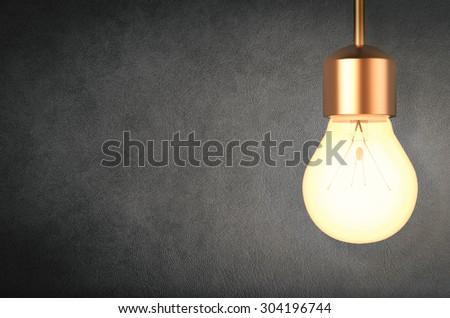 3d rendered hanging light bulb  - stock photo