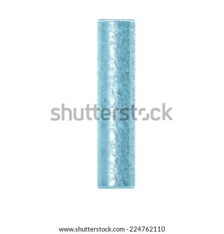 3d rendered ice alphabet letter I - stock photo