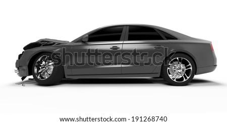 3d rendered illustration of a crash car - stock photo
