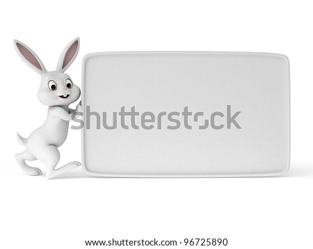 3d rendered illustration of a cute easter bunny - stock photo
