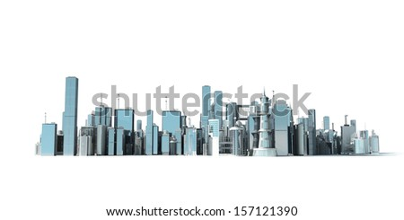 3d rendered illustration of a large city