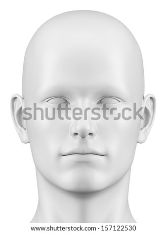3d rendered illustration of a male head - stock photo
