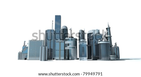 3d rendered illustration of a modern city - stock photo