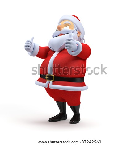 3d rendered illustration of a santa claus - stock photo
