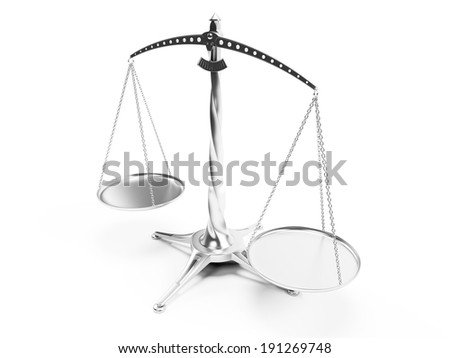3d rendered illustration of a silver scale - stock photo