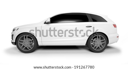 3d rendered illustration of a SUV coupe - stock photo