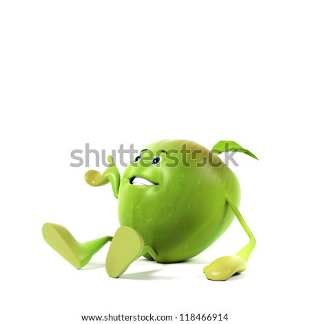 3d rendered illustration of an apple character - stock photo