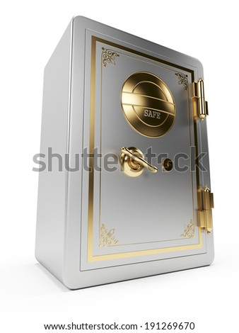 3d rendered illustration of an old safe - stock photo