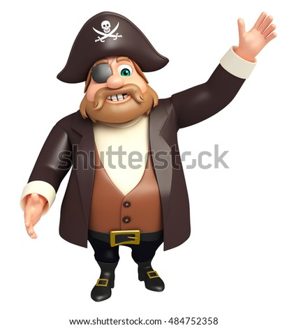 3d rendered illustration of 3d rendered illustration of pirate