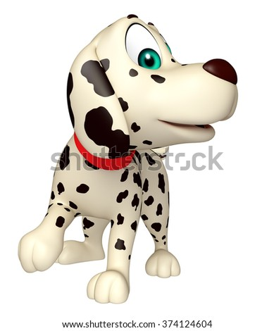 3d rendered illustration of Dog funny cartoon character