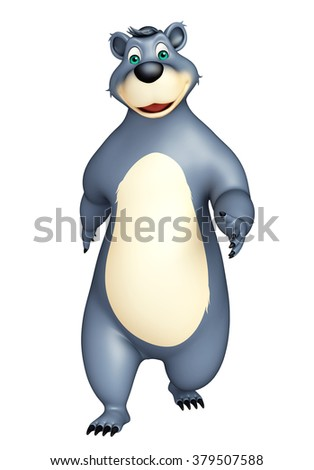 3d rendered illustration of funny Bear cartoon character