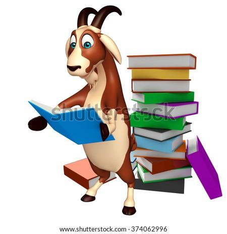 3 d rendered illustration goat cartoon character stock illustration rh shutterstock com Baby Goat Clip Art Cartoon Goat Clip Art