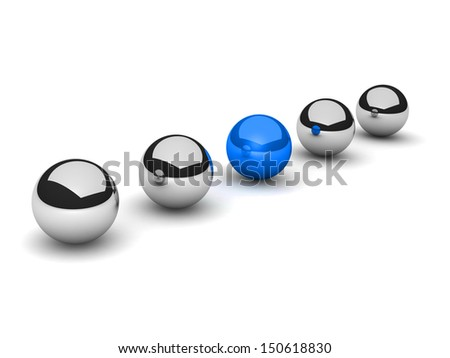 3D rendered illustration of individuality concept on white background - stock photo