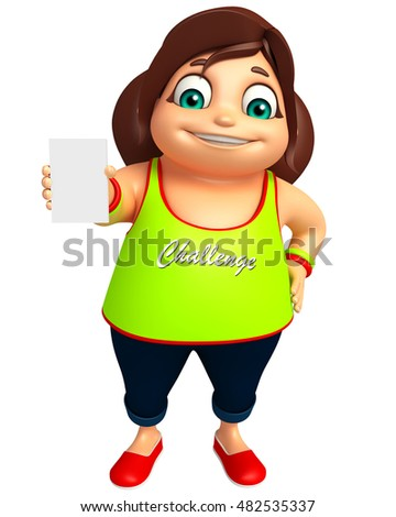 3d rendered illustration of Kid girl with Hold pose