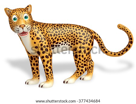3d rendered illustration of look at camera Leopard cartoon character