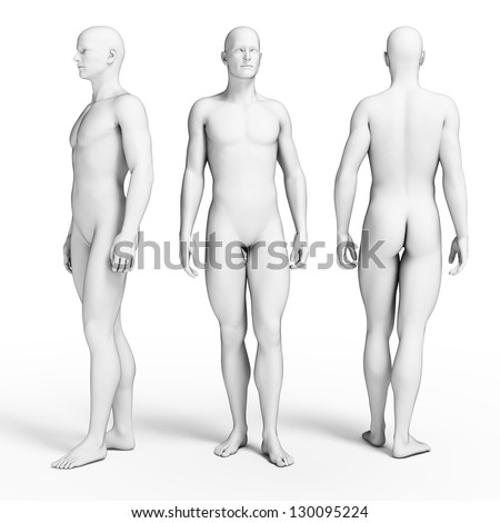 3d rendered illustration of some average guys - stock photo