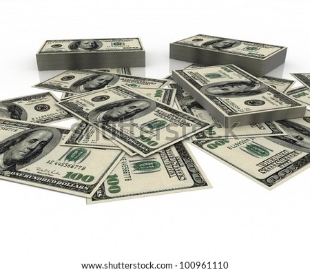 3d rendered illustration of symbol of American currency