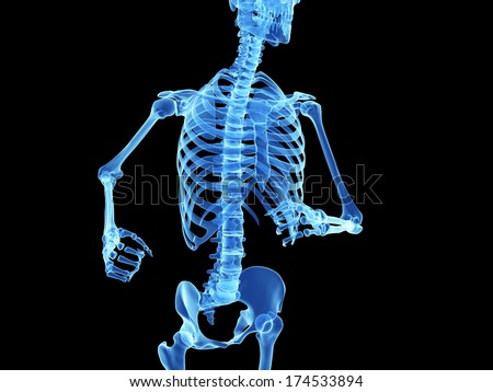 3d rendered illustration - skeleton of a jogger