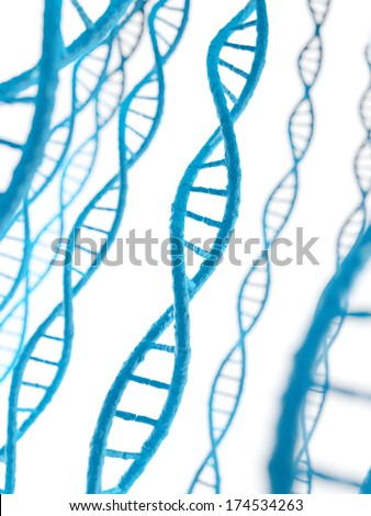 3d rendered illustration - the human dna