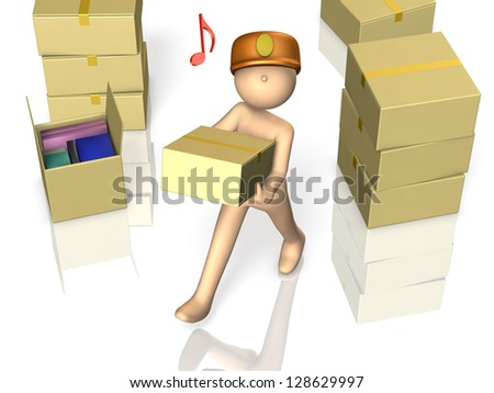 3D rendered image depicting a porter.