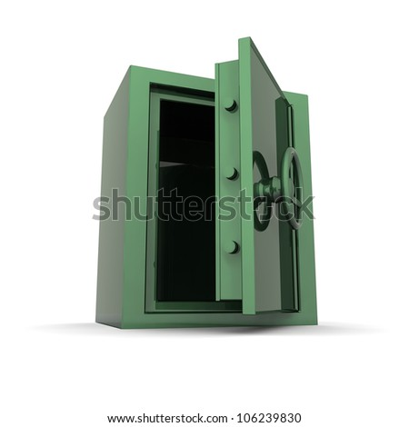 3D rendered isolated safe - stock photo
