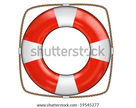 3d rendered lifeguard on white background isolated