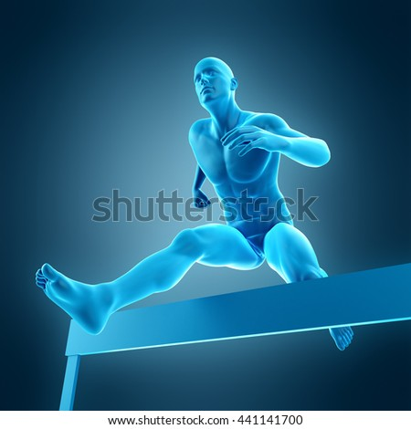 3d rendered, medically accurate 3d illustration of a runner pose