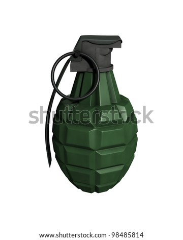 3D Rendered MK11 Grenade on a White Background - stock photo