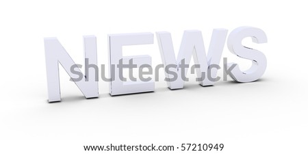 3D Rendered News word