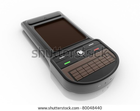 3D Rendered smart mobile phone