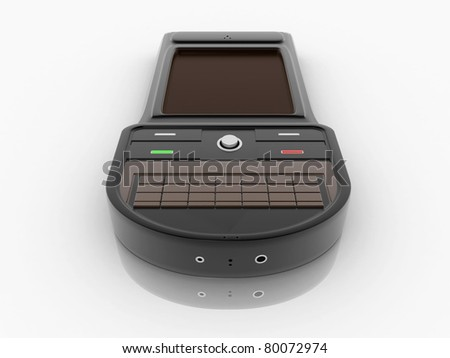 3D Rendered smart mobile phone - stock photo