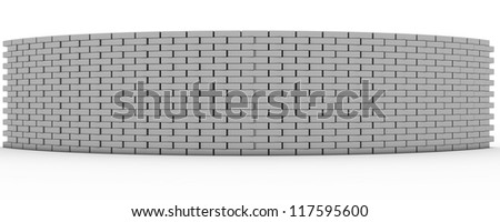 3D Rendered Wall - stock photo