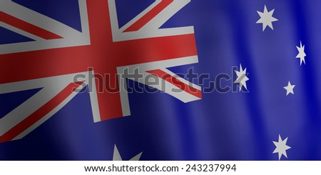 3d renderer illustration. Australia flag.