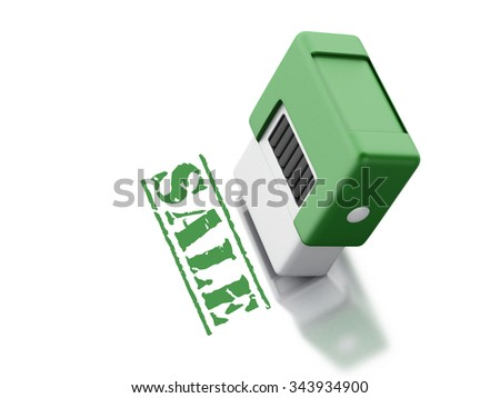 3d renderer image. Stamp with the word sale. shopping concept. Isolated white background