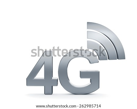 3d renderin of 4G cellular high speed data connection concept logo - stock photo