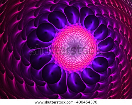 3d rendering. Abstract wallpaper. Abstract fractal. Fractal art background for creative design. Decoration for wallpaper desktop, poster, cover booklet, card. Psychedelic. Print for clothes, t-shirt. - stock photo