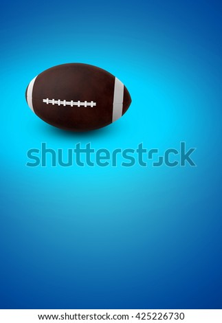 3D rendering american football sport poster or flyer background with space - stock photo