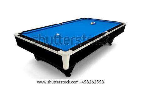 3D Rendering   9 Balls Pool Table Setup