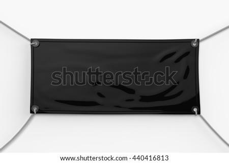 3 D Rendering Blank Vinyl Banner Hanging Stock Illustration ...