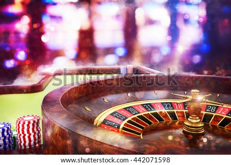 3D Rendering  casino roulette - stock photo