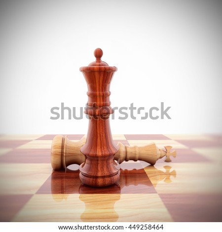 3D Rendering Chess - stock photo