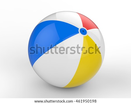 3d rendering colorful beach ball