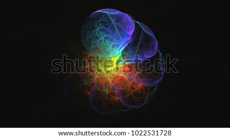 3D rendering colorful fantasy illustrated fractal background wallpapers