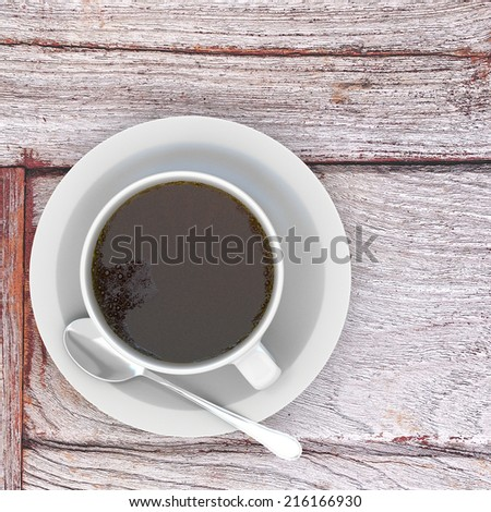 3d rendering Cup of coffee - stock photo