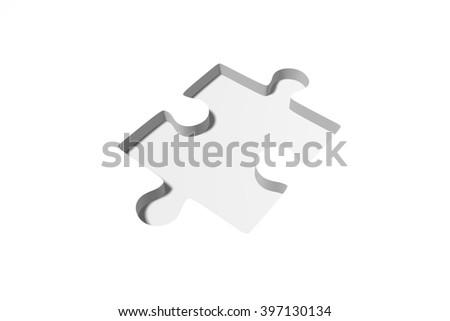 3D rendering/ 3D illustration - puzzle concept - missing part concept. - stock photo