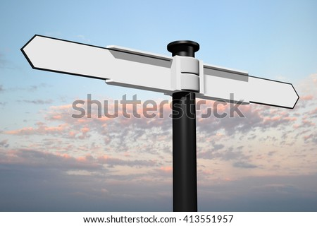3D rendering/ 3D illustration - signpost concept