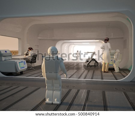 3d rendering digital illustration of a martian base