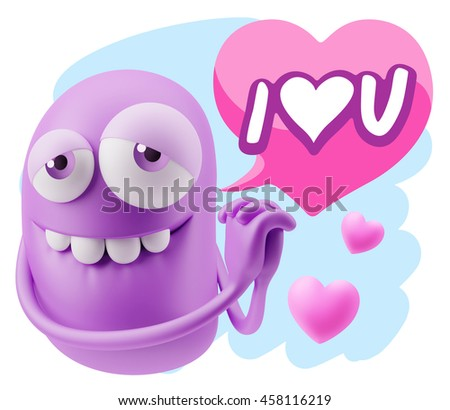 3d rendering emoji saying love u stock illustration 458116219 emoji saying i love u with colorful speech bubble thecheapjerseys Gallery