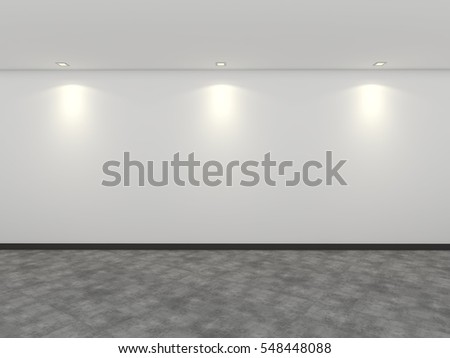 3D rendering empty gallery