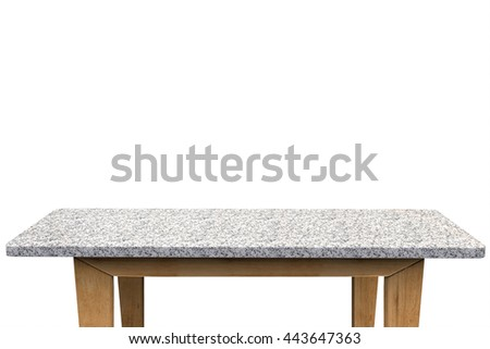 3d rendering empty granite table on white background
